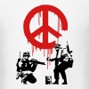 Banksy CND Peace Sign Soldiers - Men's T-Shirt