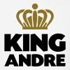 King andre name thing crown - Men's T-Shirt
