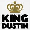 King dustin name thing crown - Men's T-Shirt