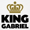 King gabriel name thing crown - Men's T-Shirt