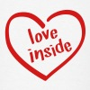Love Inside - Heart Shaped Logo - Men's T-Shirt