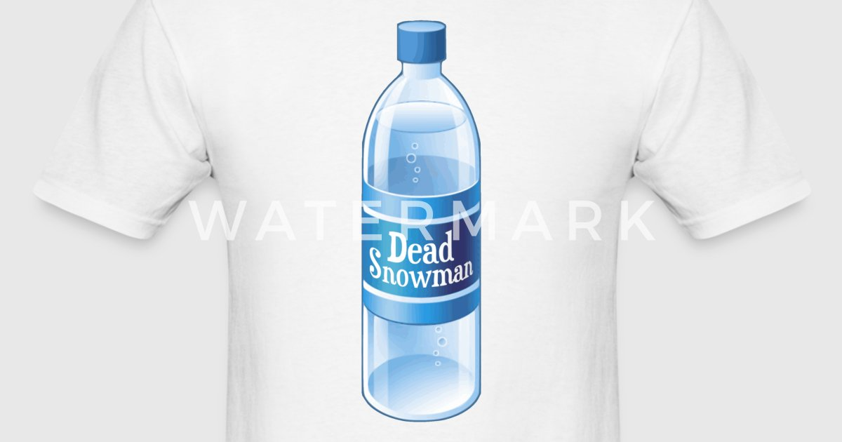 Dead snowman melted bottled water t shirt spreadshirt sciox Gallery
