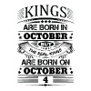 Real Kings Are Born On October 4 - Men's T-Shirt