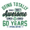 60 Years Of Being Awesome - Men's T-Shirt