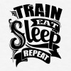 Train Sports Gym Quotes - Men's T-Shirt