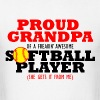 Softball Grandpa (She gets it from me) - Men's T-Shirt