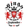 Kings September King Lions Knight Shield Birthday - Men's T-Shirt