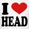 I Love Head - Men's T-Shirt