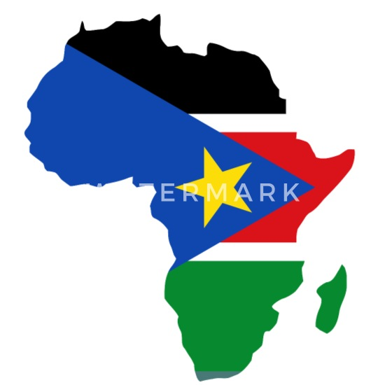 South Sudan Flag In Africa Map Men\'s T-Shirt | Spreadshirt