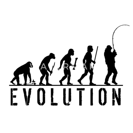 Evolution of man Fishing Kids 7 Colours XS-XL Angler Childrens Hoodie