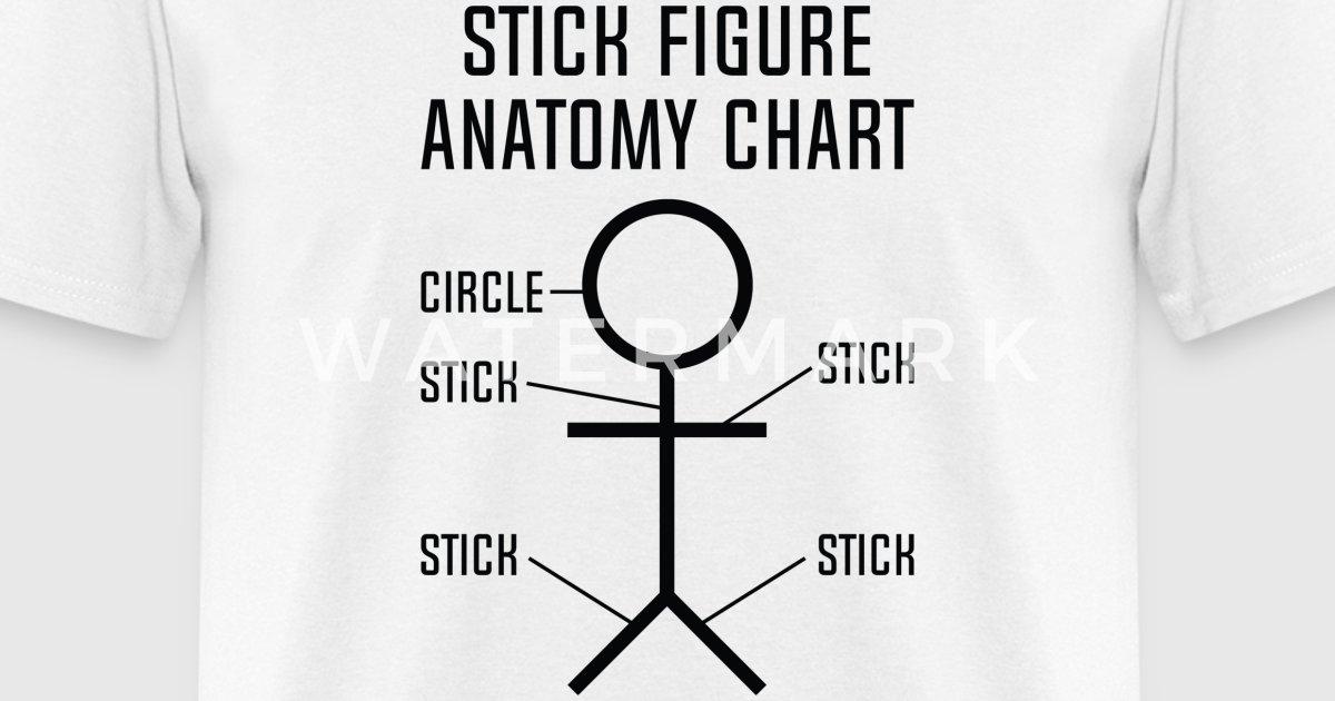 Stick Figure Anatomy Chart by VectorPlanet | Spreadshirt