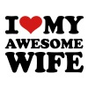 I love my awesome wife - Men's T-Shirt