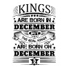 Real Kings Are Born On December 5 - Men's T-Shirt