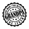Grandpa-The Man The Myth The Legend - Men's T-Shirt
