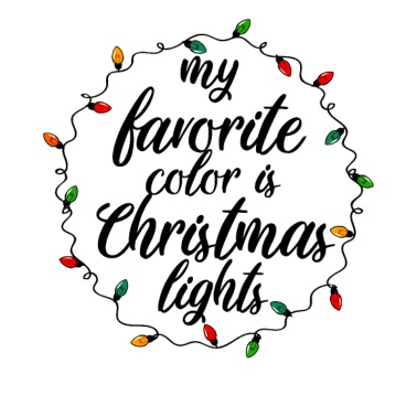 My Favorite Color Is Christmas Lights Present Mens Jersey T Shirt