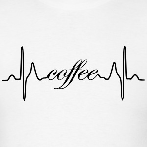Coffee ECG heartbeat - Men's T-Shirt
