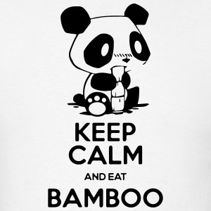 Keep Calm and eat Bamboo - Men's T-Shirt
