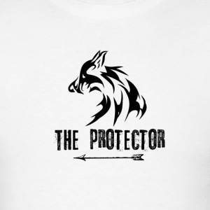 Wolf: The Protector (Black) - Men's T-Shirt