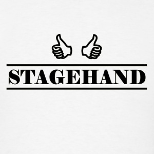 stagehand black - Men's T-Shirt