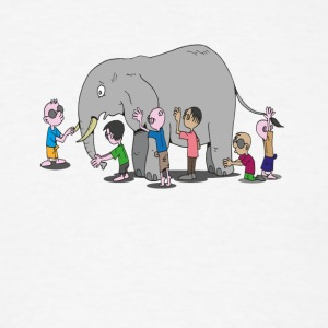Blind Men and an Elephant Famous Story Tale Design - Men's T-Shirt
