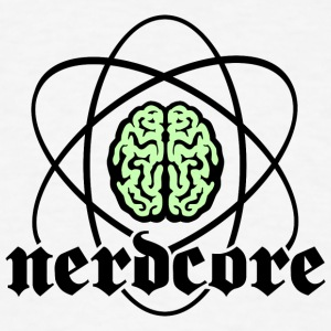 Atomic Nucleus Nerdcore - Men's T-Shirt