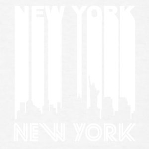 Retro New York Skyline - Men's T-Shirt
