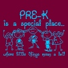 Pre K Is A Special Place Where Little Things - Men's T-Shirt