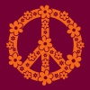 PEACE SYMBOL - peace sign, c, symbol of freedom, flower power, hippie, 68er movement, Woodstock - Men's T-Shirt