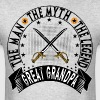 GREAT GRANDPA THE MAN THE MYTH THE LEGEND - Men's T-Shirt
