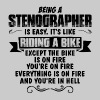 Being A Stenographer... - Men's T-Shirt