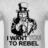 I Want You To Rebel - Men's T-Shirt