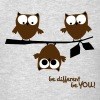 3 owls be different, be you | funny owl shirt - Men's T-Shirt