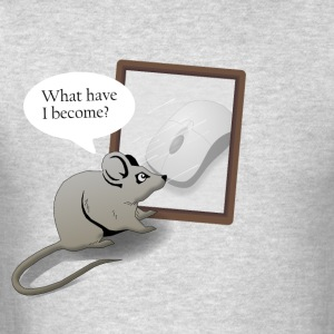 A Mouse Reflects Over His Life - Men's T-Shirt