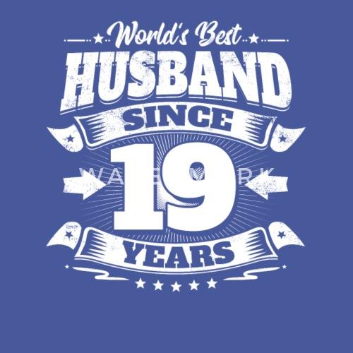 Wedding Day 19th Anniversary Gift Husband Hubby By Easyy Spreadshirt