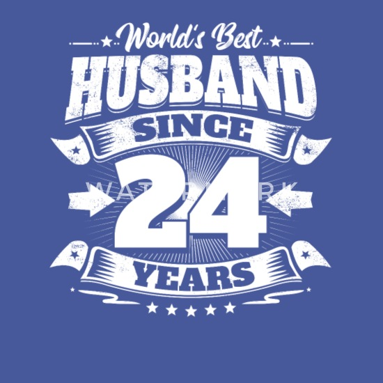 Wedding Gift For Husband On Wedding Day: Wedding Day 24th Anniversary Gift Husband Hubby Men's T