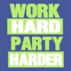 WORK HARD PARTY HARDER - Men's T-Shirt