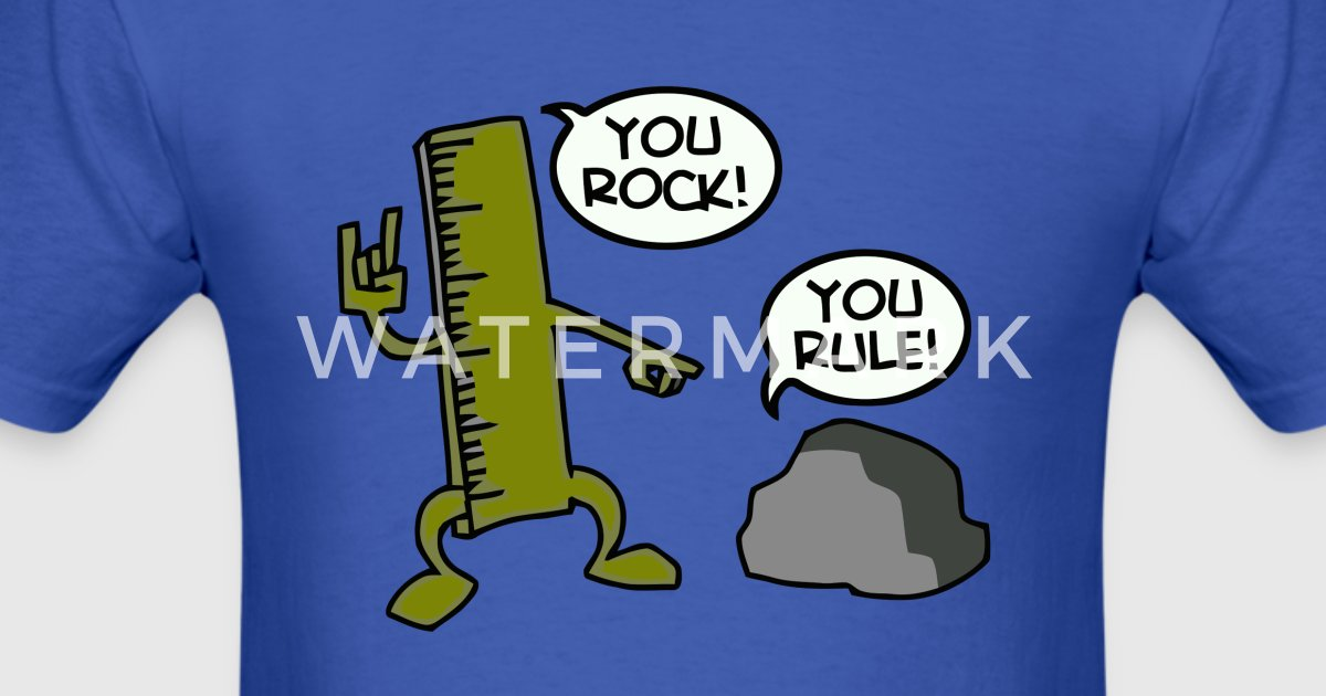 You Rock You Rule Joke By Funny Vector Spreadshirt