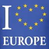 I Love Europe / I Heart Europe - Men's T-Shirt