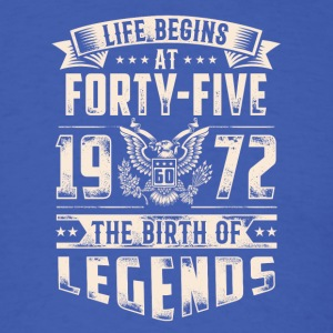 Life Begins At Forty Five Tshirt - Men's T-Shirt