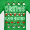 Christmas Claims Adjuster Ugly Sweater T Shirt - Men's T-Shirt