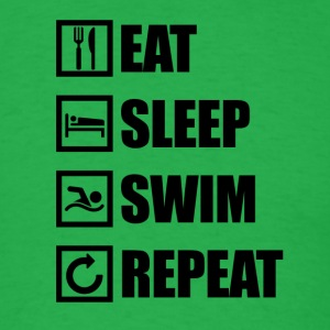 EAT SLEEP SWIM REPEAT - Men's T-Shirt