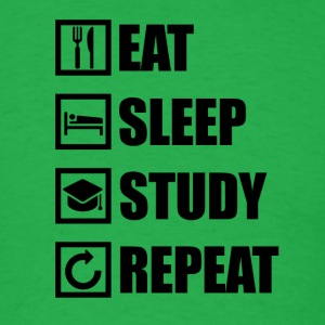 EAT SLEEP STUDY REPEAT - Men's T-Shirt