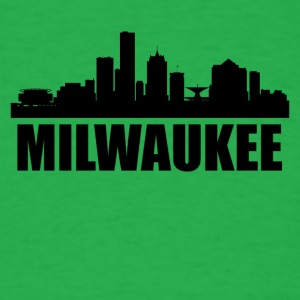 Milwaukee WI Skyline - Men's T-Shirt