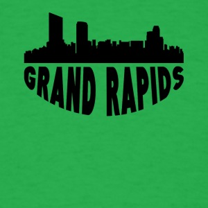 Grand Rapids MI Cityscape Skyline - Men's T-Shirt