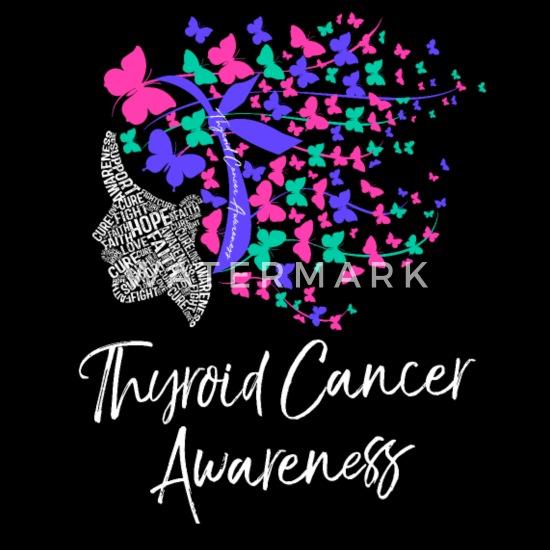 Thyroid Cancer Awareness Purple Pink Butterflies Men S T Shirt Spreadshirt