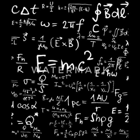 Physics science teacher formula cheat shee Men's T-Shirt - black