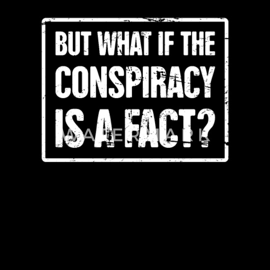 Conspiracy Theory - Government Illuminati Aliens Men's T-Shirt - black