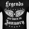 01 Legends are born in January Happy Birthday - Men's T-Shirt
