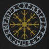 Helm of awe, Aegishjalmur, protection symbol, rune - Men's T-Shirt