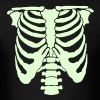 A Human rib cage great for Halloween events and scaring people - Men's T-Shirt